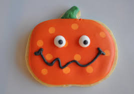 cute pumpkin cookie for halloween suz daily