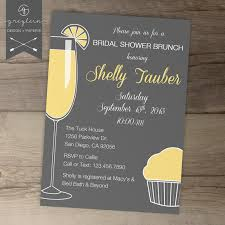 brunch bridal shower invitations sweet wishes mimosa brunch bridal shower invitations printed