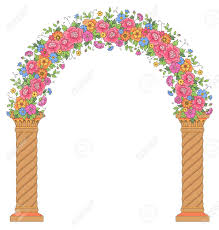 wedding design floral archway isolated on white background beautiful