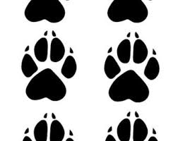 wolf paw print pebble jewelry sided engraved