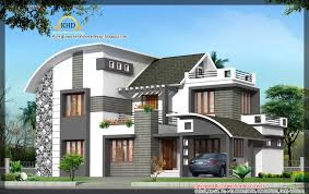 Modern Contemporary Elevation Ft Kerala Home Design Greenline