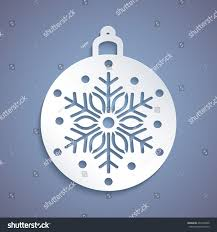 Christmas Cards Invitation Christmas Ball Snowflake Cut Out Paper Stock Vector 497494420