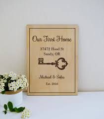 housewarming gifts for first home our first home personalized housewarming gift house warming