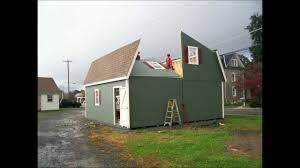 1 Car Prefab Garage One Car Garage Horizon Structures 2 Story 2 Car Barn Garage Install Youtube