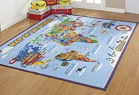 Learning Rugs Amazon Com Smithsonian Rug World Map Learning Carpets Bedding