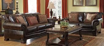 ashley leather sofa set brown genuineer living room set hutcherson signature design ashley