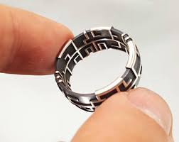 labyrinth ring etsy