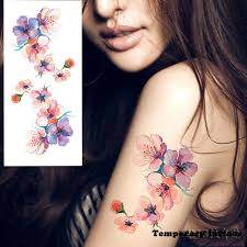 1piece body art flash henna tattoo fake temporary tattoos stickers