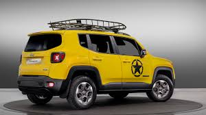 yellow jeep jeep wrangler rubicon and renegade receive mopar treatments for paris