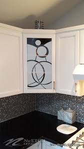 Glass Designs For Kitchen Cabinet Doors by Glass In Kitchen Cabinet Doors Can Be A Place For Art