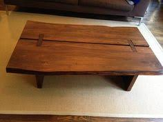 Slab Coffee Table by Live Edge Pecan Wood Slab Coffee Table By Realwoodworks1 On Etsy