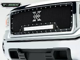 led lights for 2014 gmc sierra 2014 15 gmc sierra 1500 mesh grille torch series w led light bar by