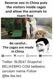 Made In China Meme - reverse zoo in china puts the visitors inside cages and allow the