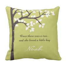 the giving tree throw pillow zazzle com