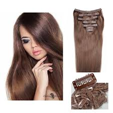 remy hair extensions strands 21 clip in human hair extensions color 4
