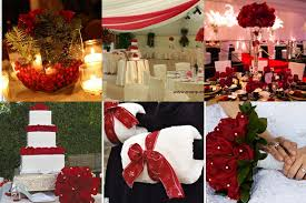 Christmas Wedding Decor - red winter wedding decorationswedwebtalks wedwebtalks