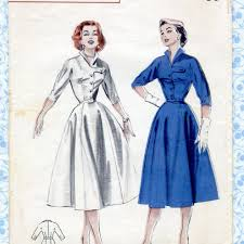 vintage 1950s womens dress sewing patterns butterick 6710 misses