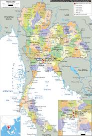 map of thailand detailed large political map of thailand showing names of capital