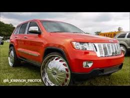 rose gold jeep cherokee candy orange jeep laredo on 28 inch dub wheels in hd youtube