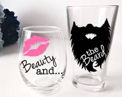 his and hers glassware his and hers drinks etsy