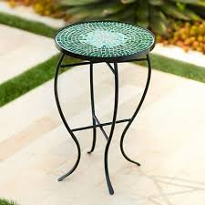 Outdoor Accent Table Bella Green Mosaic Outdoor Accent Table 2x595 Lamps Plus