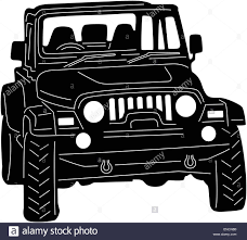 jeep vector 4x4 truck silhouette stock vector art u0026 illustration vector image