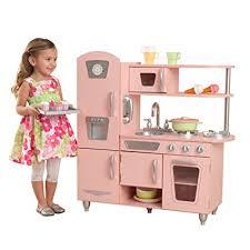 kidkraft cuisine vintage 53179 amazon com kidkraft vintage kitchen in pink toys