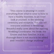 wedding planner certification weddings beautiful wedding notes