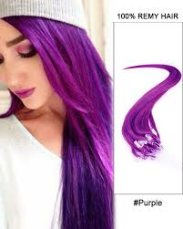 purple hair extensions purple micro loop 100 remy hair human hair extensions