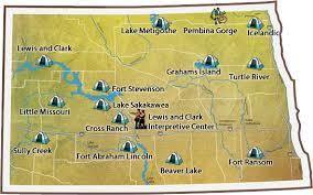 lake sakakawea map dakota parks and recreation