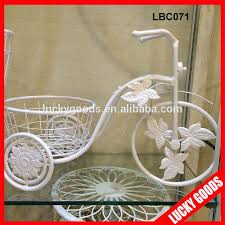 ornamental white iron bicycle plant stand wholesale buy iron