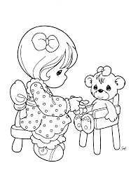 printable precious moments coloring pages little holding a