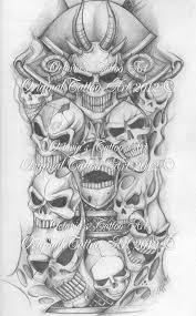 skull half sleeve design for 3 jpg 600 964