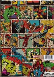 comic wrapping paper marvel comics 2 sheets gift wrap 2 gift tags