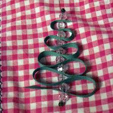 under the big oak tree handmade christmas ribbon tree ornaments