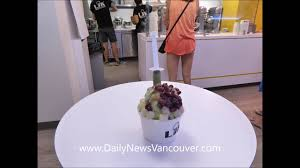 liquid nitrogen ice cream in vancouver youtube