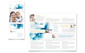 behavioral counseling tri fold brochure template word u0026 publisher