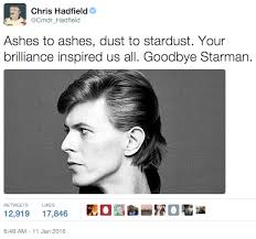 Bowie Meme - chris hadfield pays respect to david bowie david bowie know