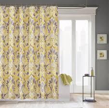 bathroom gray window curtain with flower design tricks bathroom beautiful shower curtain design window curtains sets