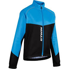cycling jacket blue 500 junior warm cycling jacket black blue decathlon