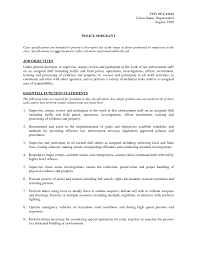 Sample Resume Police Officer by 74 Sample Resume For Police Officer Essay Police What Is An