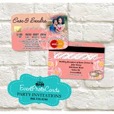 wedding credit card light coral invitations coral rosa