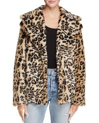 Leopard Print Faux Fur Throw Aqua Leopard Print Faux Fur Coat 100 Exclusive Bloomingdale U0027s
