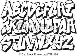 drawn word graffito font pencil and in color drawn word graffito