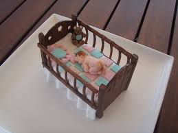 mossy u0027s masterpiece baby crib baby shower cake topper a photo