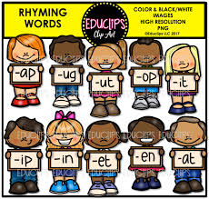thanksgiving rhymes rhyming words clip art big bundle color and b u0026w welcome to