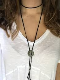 leather necklace tie images Leather wrap around bolo tie necklace by greeneggsncamdesigns jpg