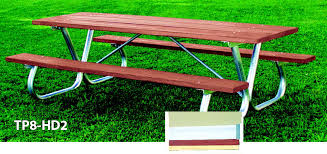 Picnic Table With Benches Tables Benches L A Steelcraft