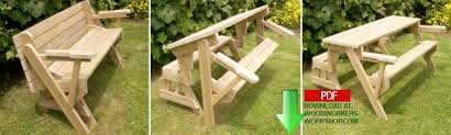 Diy Folding Wooden Picnic Table by 24 001 Folding Bench And Picnic Table Combo Pdf Woodworking