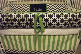 Navy Blue Chevron Crib Bedding by Blue Crib Bumper Pads Creative Ideas Of Baby Cribs